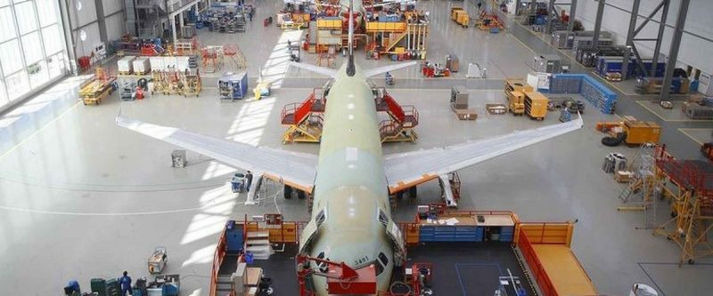 Airbus A320 assembly line
