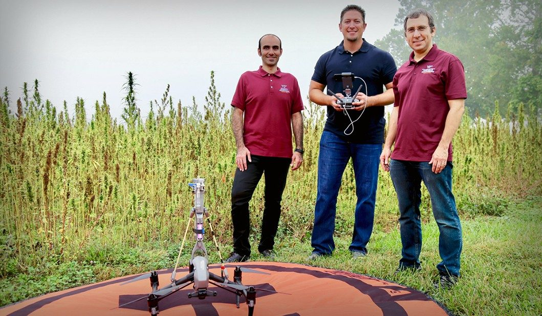 Using sensors onboard drones, VT researchers can collect pollen and forecast its movement at different altitudes and distances.
