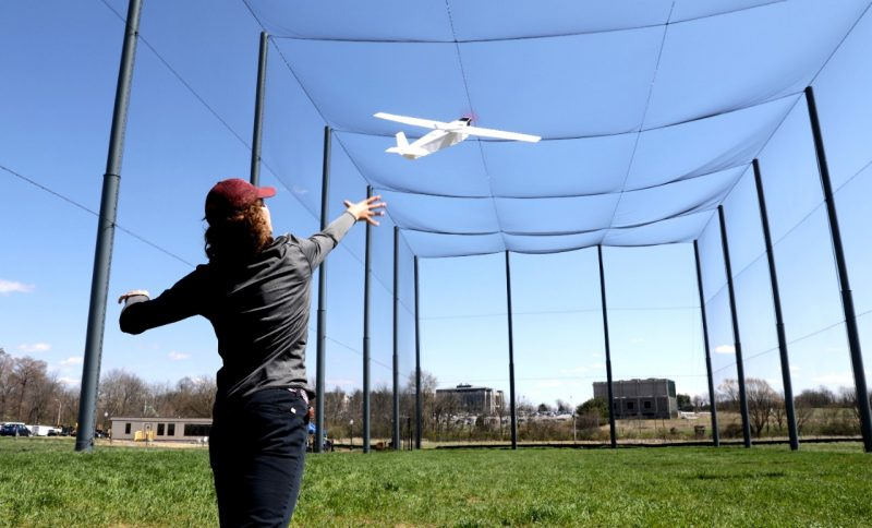 At 85 feet, the net's the limit: Virginia Tech Drone Park officially open